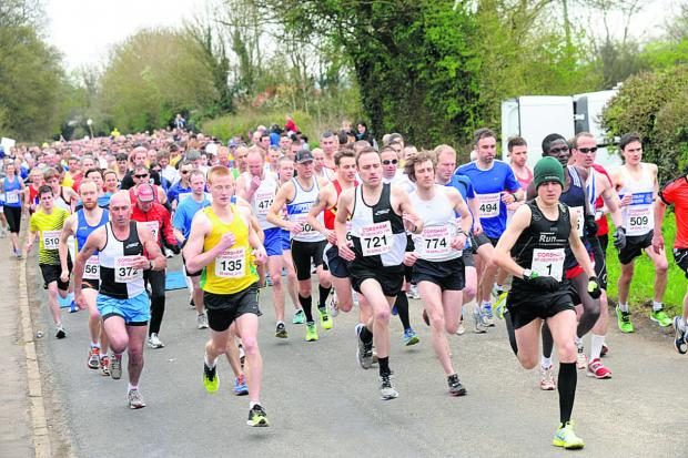 This Is Wiltshire: April 2013... and they're away during last year's race. The event is now in its 33rd year