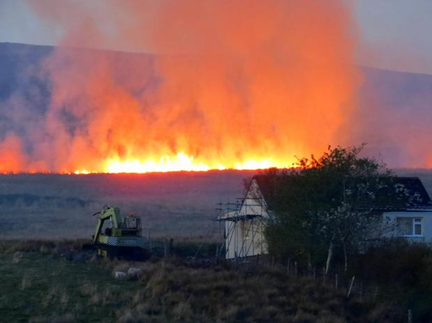 This Is Wiltshire: Grass burns in Wales recently - Wiltshire Fire & Rescue Service says extra care must be taken in the countryside to avoid similar scenes