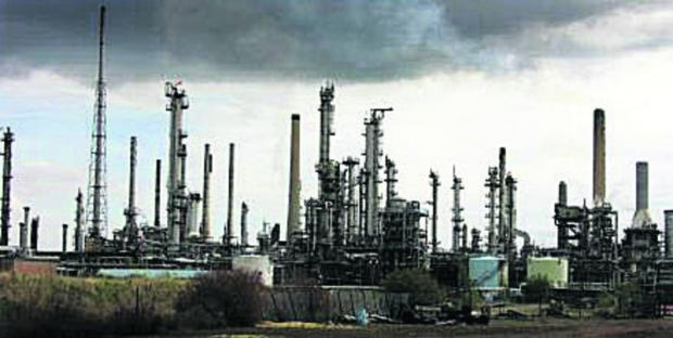 This Is Wiltshire: The Esso refinery at Fawley in Hampshire