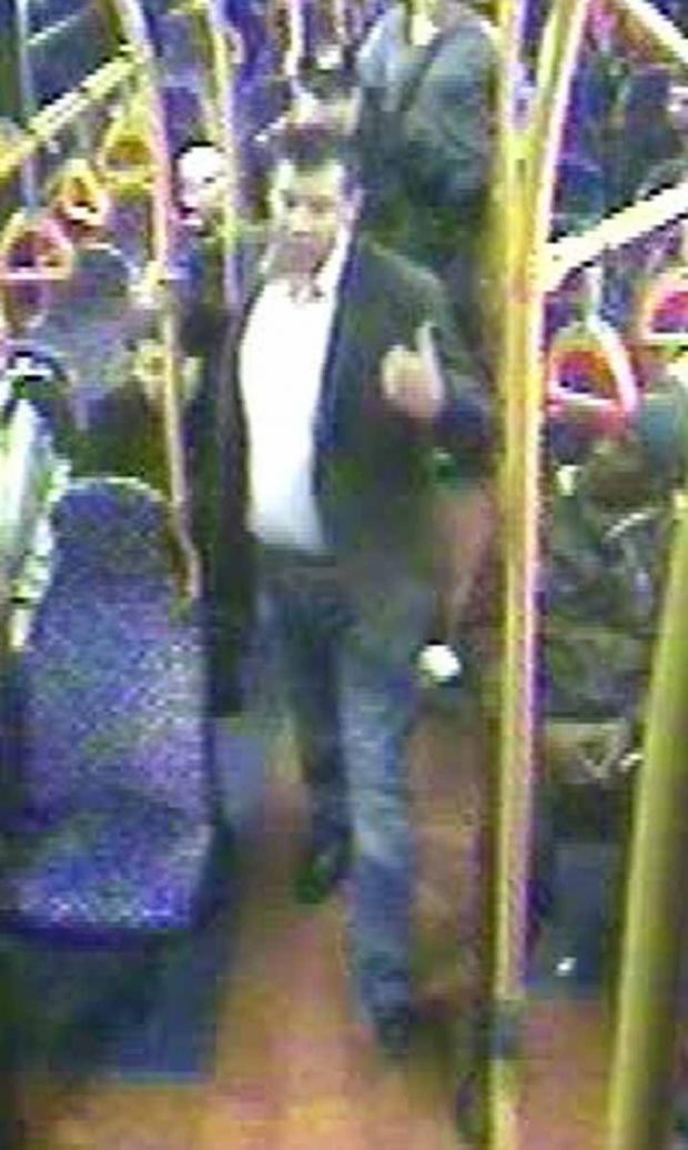 This Is Wiltshire: A CCTV image of the victim of the assault