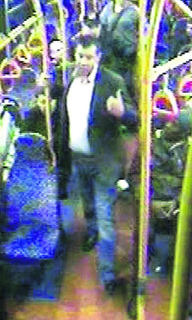 This Is Wiltshire: A CCTV image of the man who was attacked on the bus and to whom the police would like to speak