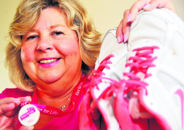This Is Wiltshire: Carol Tedham gets ready for Race For Life
