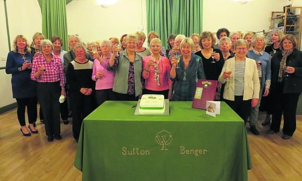 This Is Wiltshire: Members of Sutton Benger WI celebrate their 40th anniversary