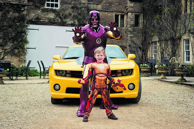 This Is Wiltshire: Joshua Flynn spent a day with Iron Man thanks to charity Make-A-Wish.                    By Ian Baker Photography