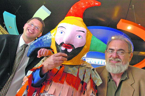 This Is Wiltshire: Chippenham Folk Festival organiser Bob Berry, right, and friends