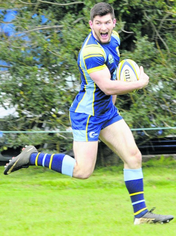 This Is Wiltshire: Jackson Szabo scored Trowbridge's decisive third try