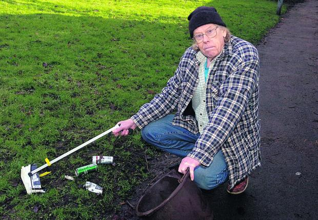This Is Wiltshire: litter campaigner Richard Savage