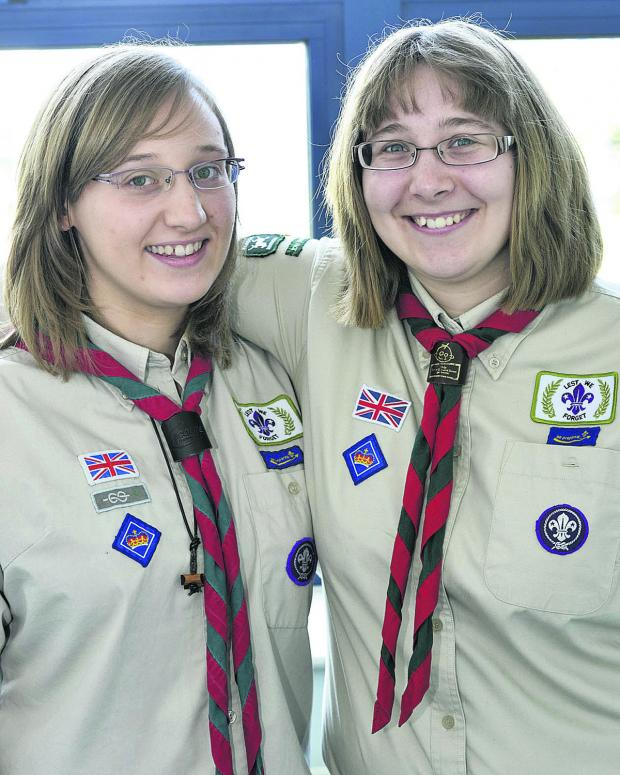 This Is Wiltshire: Looking forward to their royal visit, Queen's Scout Award winners Rebecca and Claire Molart