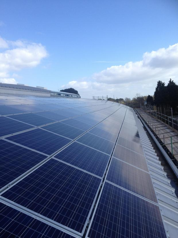 This Is Wiltshire: Plans for 160,000 solar panels at MoD Lyneham, to supply electricity for the new £230million Defence College of Technical Training, were unveiled at a public exhibition in Bradenstoke