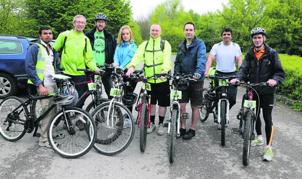 This Is Wiltshire: Tibco software team, from left, Narayan Pawar, Keith Tredget, Simon Morgan, Anna Skolasinska-Barnett, Martin Patton, Mark Barnett, Mervin Fernandes and Nick Nilson