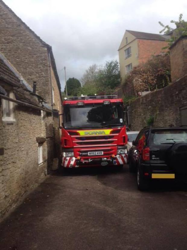 This Is Wiltshire: A fire engine has major issues negotiating Malmesbury streets