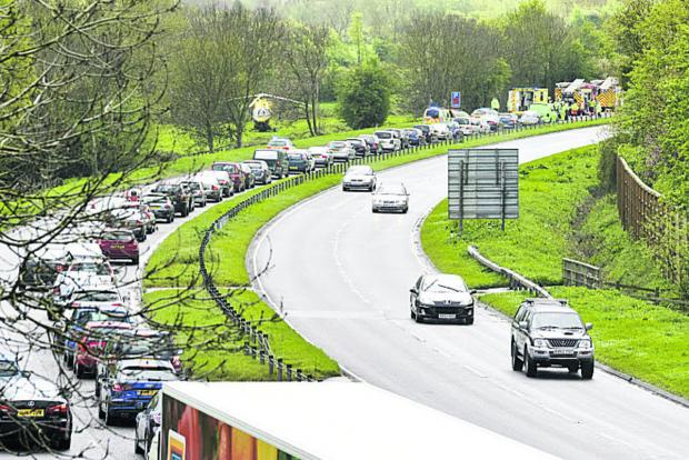 This Is Wiltshire: Traffic at a halt
