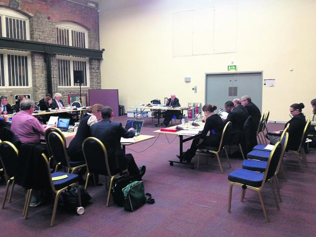 This Is Wiltshire: Planning inspector Mike Fox talks at the first day of the full public inquiry into the Local Plan