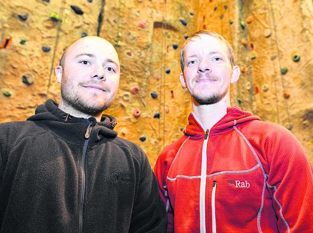 This Is Wiltshire: Dan Thain, above left, with Brian Hall who helped to save a woman who fell while climbing Ben Nevis