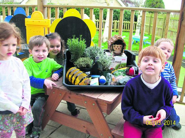 This Is Wiltshire: Sowing seeds and feeding birds will be some of these youngsters' activities this spring