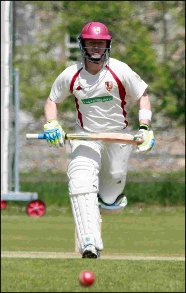 This Is Wiltshire: Tom Morton hit an unbeaten century for Wiltshire on Sunday