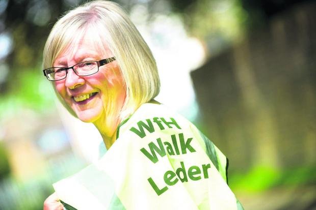 This Is Wiltshire: Sue Stevens, who has has lost three stone since retiring as part of a health programme