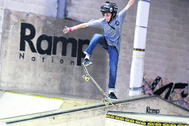 This Is Wiltshire: Skateboard action at RampNation