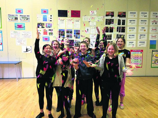 This Is Wiltshire: Students from Stagecoach Trowbridge celebrate the news of their Disney achievement
