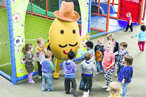 This Is Wiltshire: Mash of the day – Mr Potato is surrounded by fans at Kidz About