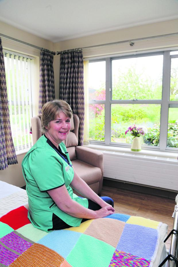 This Is Wiltshire: Hilary Sinclair, the in-patient unit manager at Prospect  pictured in the unit which now has 16 beds for terminally ill patients