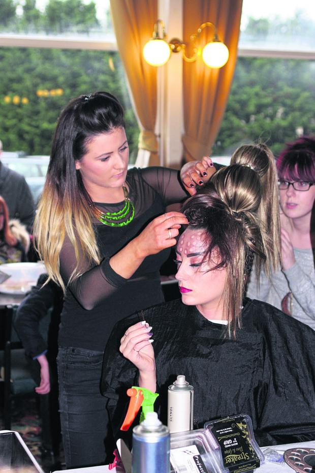 This Is Wiltshire: Stylist Ellis Green who won a south west competition held by Span Development for trainee hairdressers