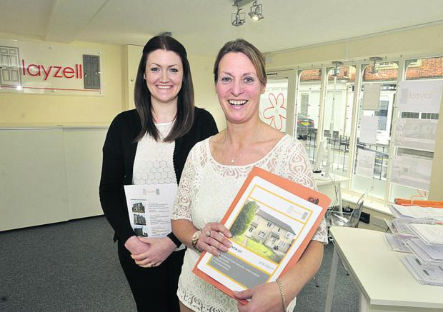 This Is Wiltshire: Owner Jo Snook-Haldane, right, and property co-ordinator Lucy O'Grady at the newly opened Layzell property letting agency                                            Photo: Glenn Phillips (49351)