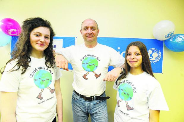 This Is Wiltshire: Peter Jenkins with logo designers Cerys Heath and Emily Coooper