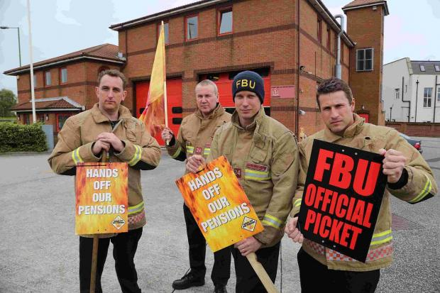 This Is Wiltshire: First 24-hour firefighter strike announced after minister ploughs ahead with 'unworkable' pension scheme