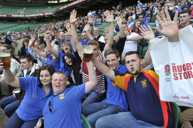 This Is Wiltshire: Trowbridge fans get in the part spirit at Twickenham