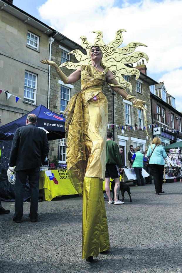 This Is Wiltshire: The sun godess at Highworth May Day Fair