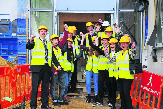 This Is Wiltshire: Students at Commonweal School get a tour of their new sixthform block