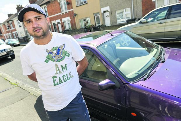 This Is Wiltshire: Jazz Singh, whose car was among those damaged in Graham Street
