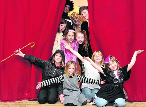 This Is Wiltshire: Penhill Players rehearsing for one of their pantomimes