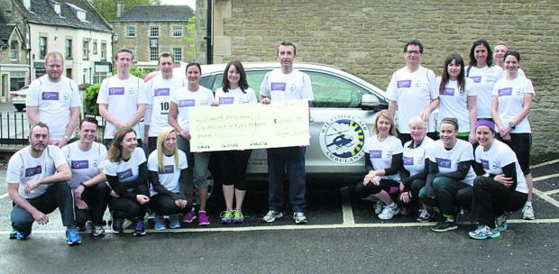 This Is Wiltshire: Goughs solicitors in Corsham raised £1,500 for Wiltshire Air Ambulance in the Corsham 10k