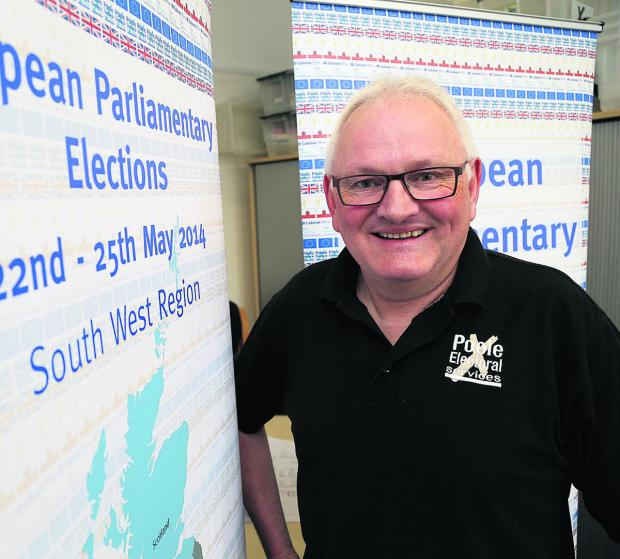This Is Wiltshire: Paul Morris, the returning officer for the south west region for the European Parliamentary Elections
