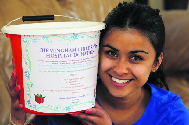 This Is Wiltshire: 17-year-old Sonia Nijjar is giving her 18th birthday presents to poorly children in Birmingham Hospital