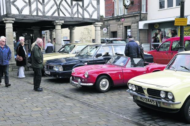 This Is Wiltshire: Royal Wootton Basett's Classic Car Club display last year. A range of classic vehicles from different eras will be on show this year