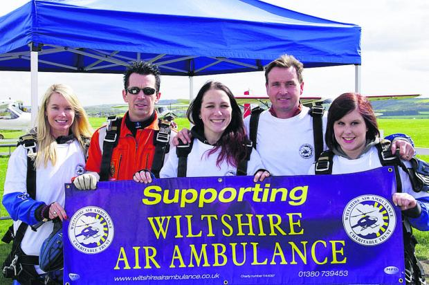 This Is Wiltshire: From left, Julie Edwards, Luke MacCallum, Ana Exton, Clive Edwards and Hannah White