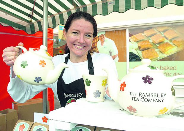 This Is Wiltshire: Amanda Fearon from the Ramsbury Tea Company at a previous festival