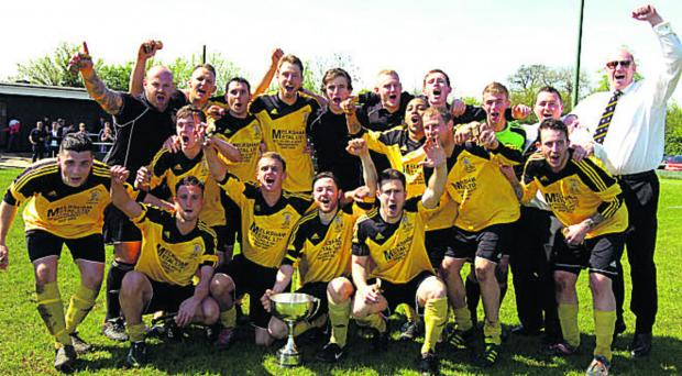 This Is Wiltshire: Melksham Town Reserves celebrate their Junior Cup triumph