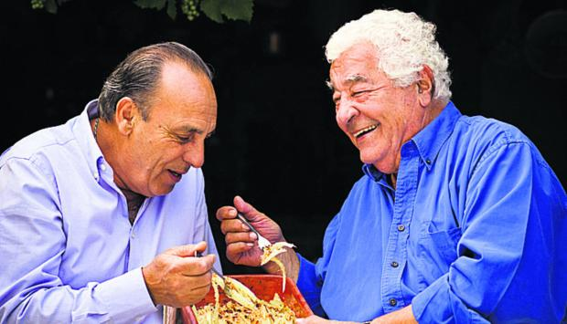 This Is Wiltshire: Greedy Italians Antonio Carluccio, right, and Gennaro Contaldo