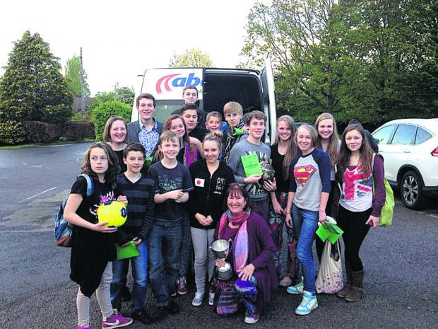 This Is Wiltshire: The cast of Call to Duty with director Nettie Powell and their trophy