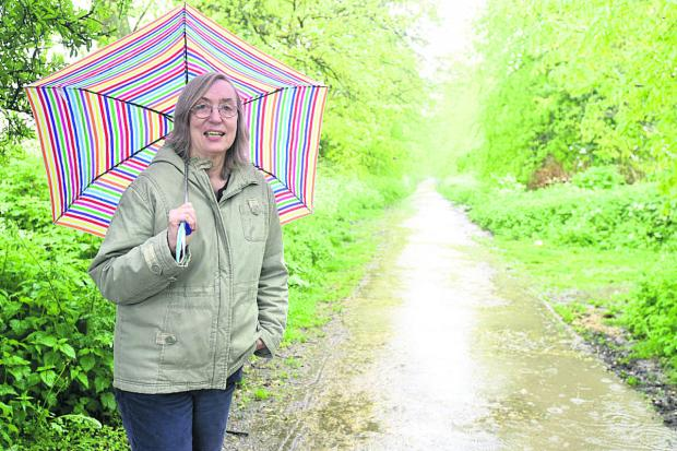 This Is Wiltshire: Philippa Morgan of Quakers Walk Protection Group    (DV1284) By Diane Vose