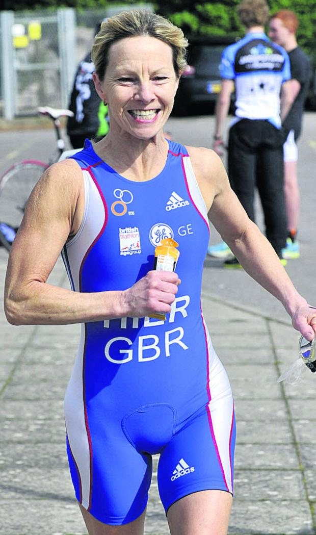 This Is Wiltshire: Diane Hier was the second female finisher home in the sprint event...