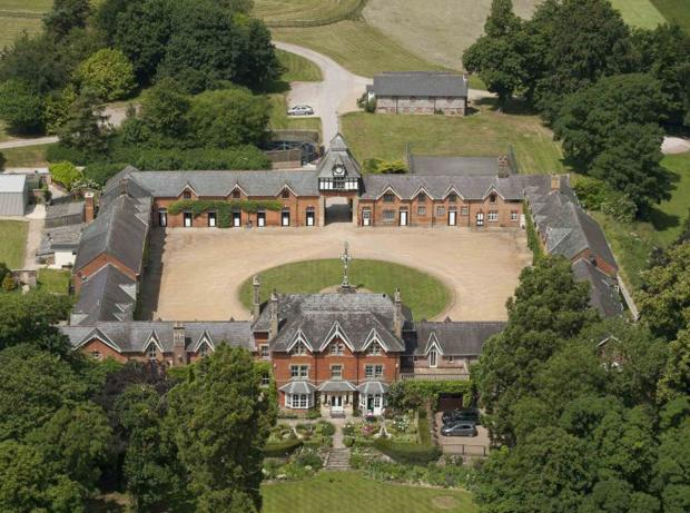 This Is Wiltshire: A bird's eye view of the magnificent 200-year-old manor house