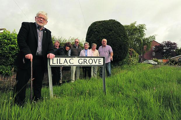 This Is Wiltshire: Councillor Osborn with unhappy Trowbridge residents