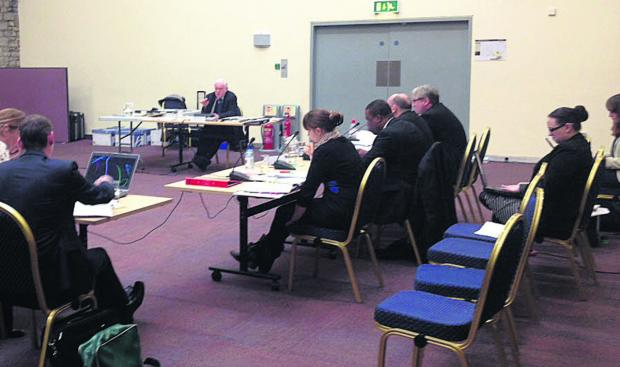 This Is Wiltshire: Mike Fox (Planning Inspector) at the full public inquiry into the Local Plan, being held in Swindon