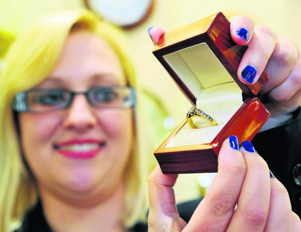 This Is Wiltshire: Laura Kelly from Hinds Jewellers with the ring