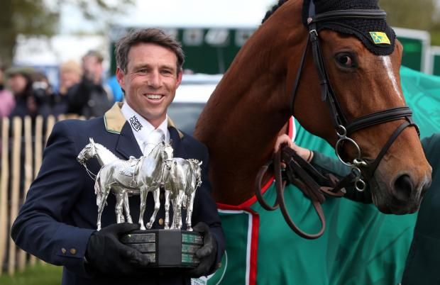 This Is Wiltshire: Australia's Sam Griffiths and Paulank Brockagh celebrate winning the Mitsubishi Motors Badminton Horse Trials